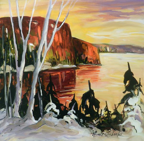 Le fjord du Saguenay 24 x 24