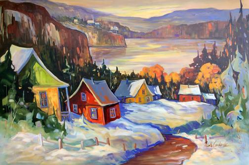 Paysage d'hiver 48x72