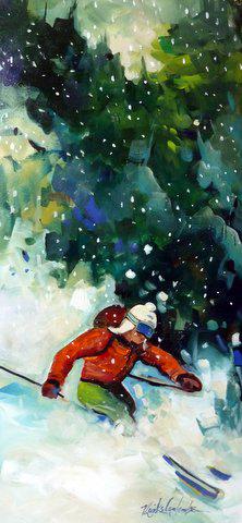 Petit skieur 18 x 36 VENDU